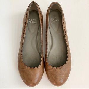Eileen Fisher Shoes - Eileen Fisher Scalloped Hidden Wedge Flats Sz 7